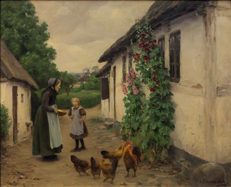 Besøg Hos Bedstemor, 1914 - Hans Andersen Brendekilde