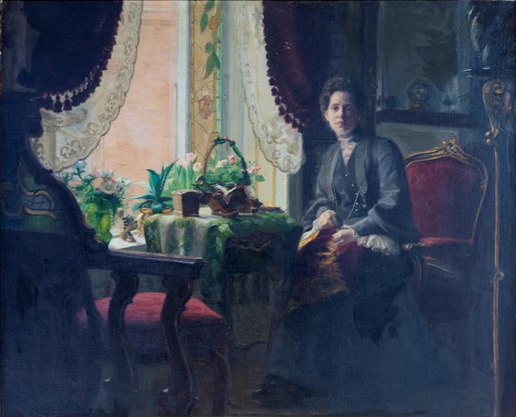 Interiør Med Kvinde, 1905 - Hans Andersen Brendekilde