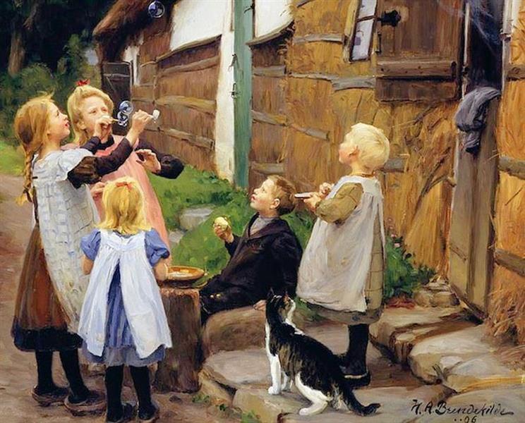Sæbebobler, 1905 - Hans Andersen Brendekilde