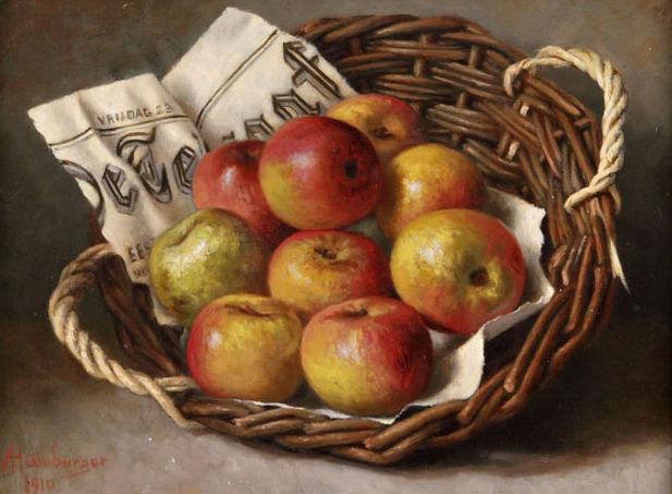 Apples in a basket, 1910 - Helen Augusta Hamburger