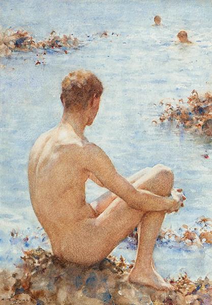 A Holiday, 1921 - Henry Scott Tuke