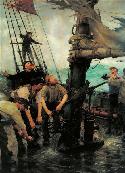 All Hands to the Pumps - Henry Scott Tuke