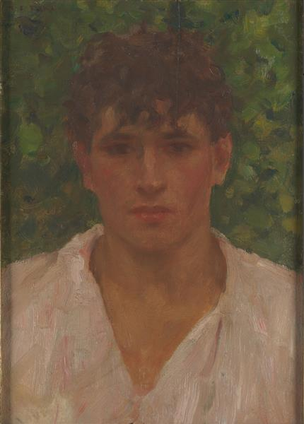 Portrait of a Young Man with Open Collar - Henry Scott Tuke