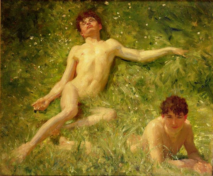 The Sunbathers - Henry Scott Tuke