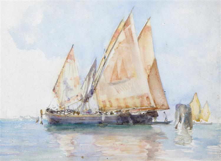 Venetian Sails - Henry Scott Tuke