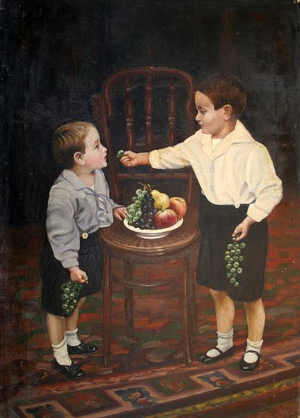 Kids eating grapes - Ivan Mrkvička