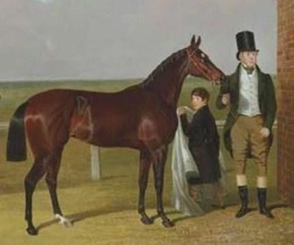 British Racehorse Vespa with Her Owner, Sir Mark Wood - John Frederick Herring Sr.