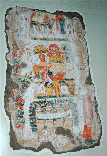 Funerary Offerings, Nebamun's Chapel, c.1550 - c.1296 BC - Ancient Egypt