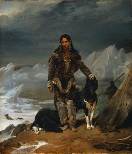 A Woman from the Land of Eskimos - Léon Cogniet