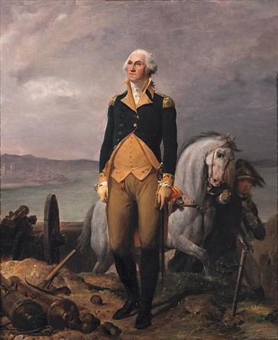 A Portrait of George Washington - Léon Cogniet