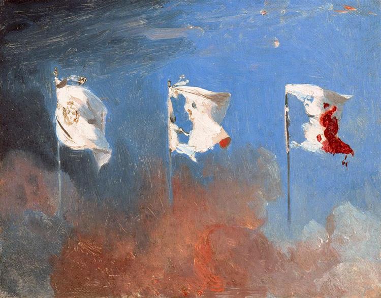Scene of July 1830, 1830 - Léon Cogniet