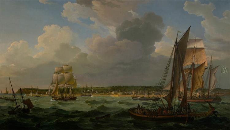 Le Port Du Havre Vers 1824, Vu Depuis La Mer, 1824 - Louis-Philippe Crépin