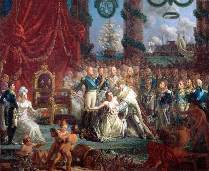 Louis XVIII Relevant La France De Ses Ruines - Louis-Philippe Crépin