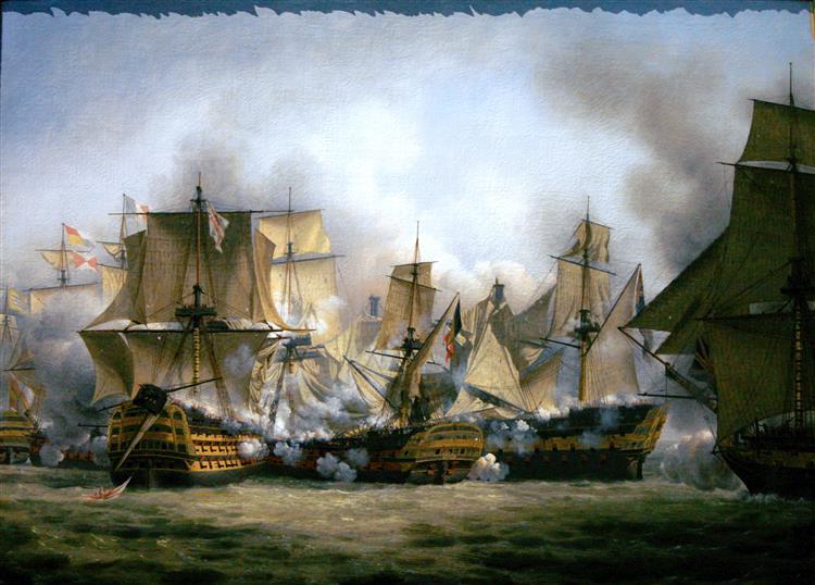 Le Redoutable À La Bataille De Trafalgar - Louis-Philippe Crépin