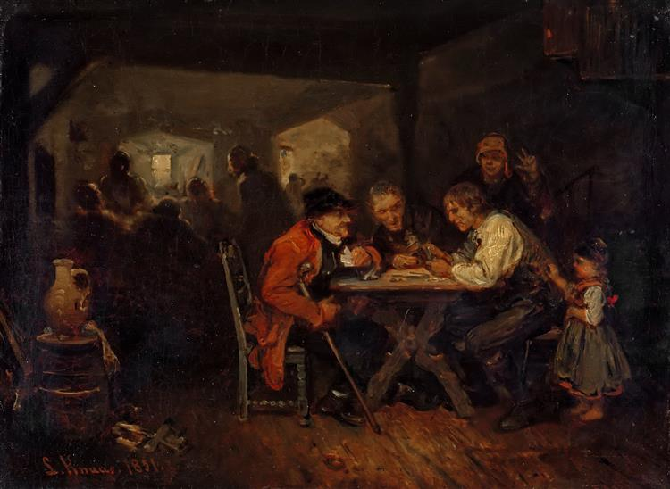 The Cheater, 1851 - Ludwig Knaus