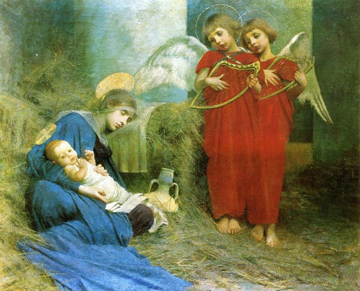Angels Entertaining the Holy Child - Marianne Stokes