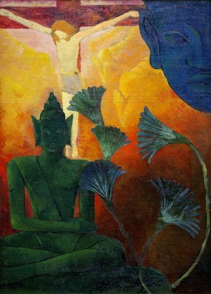 Christ and Buddha, 1880 - Paul Ranson