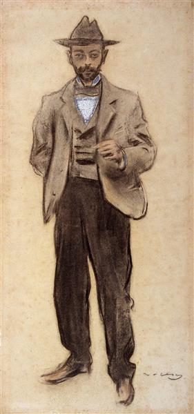 Portrait of Manolo Hugué, 1899 - Ramon Casas