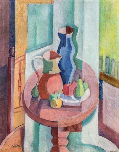 Fruit Still Life with Blue Jug, c.1930 - Kmetty János