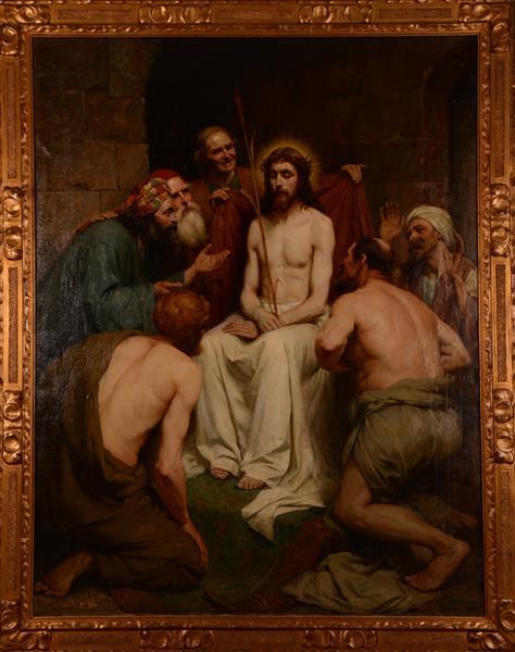 The Mocking of Christ, 1908 - Leo Steel
