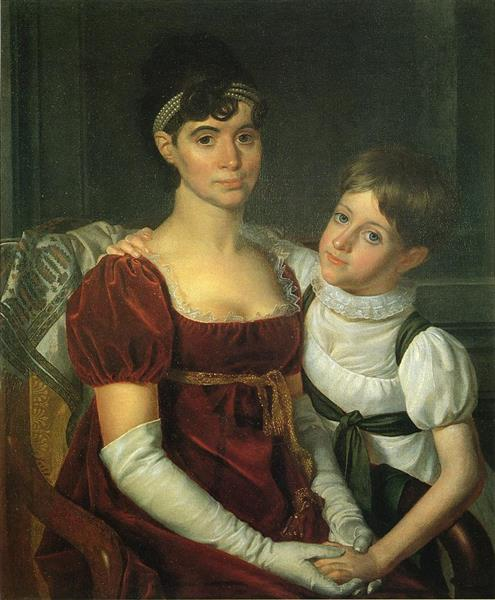 Alida Livingston Armstrong and Daughter - Rembrandt Peale