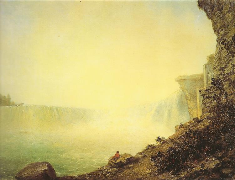 The canadian side of Niagara falls - Rembrandt Peale
