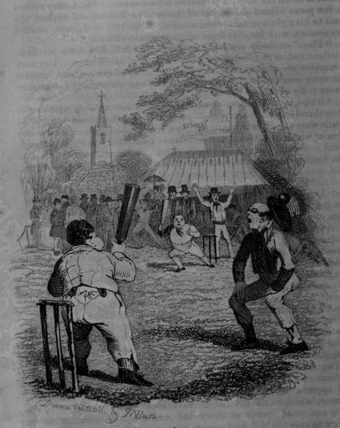 The Pickwick Papers, A Game of Cricket, 1837 - Robert William Buss