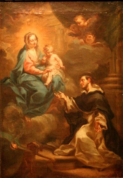 La Vierge Remettant Le Rosaire À Saint Dominique - Sebastiano Conca