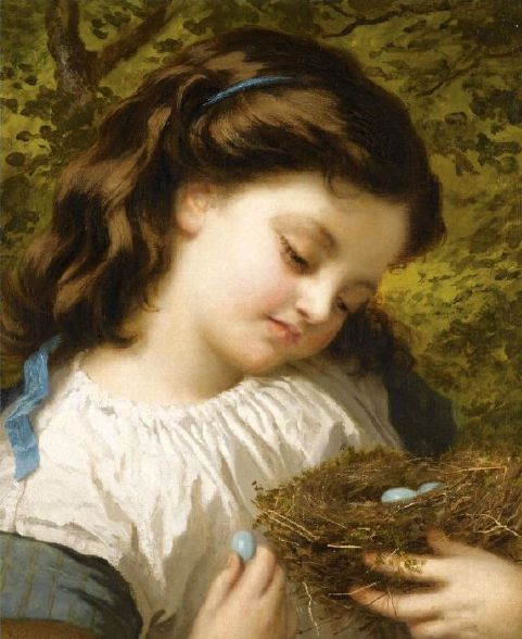 The Birds Nest - Sophie Gengembre Anderson