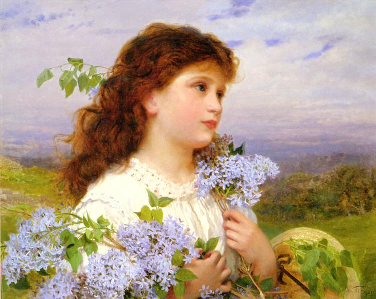 The Time of the Lilacs - Sophie Gengembre Anderson