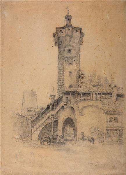 Der Klingenturm in Rothenburg Ob Der Taube - Toby Edward Rosenthal