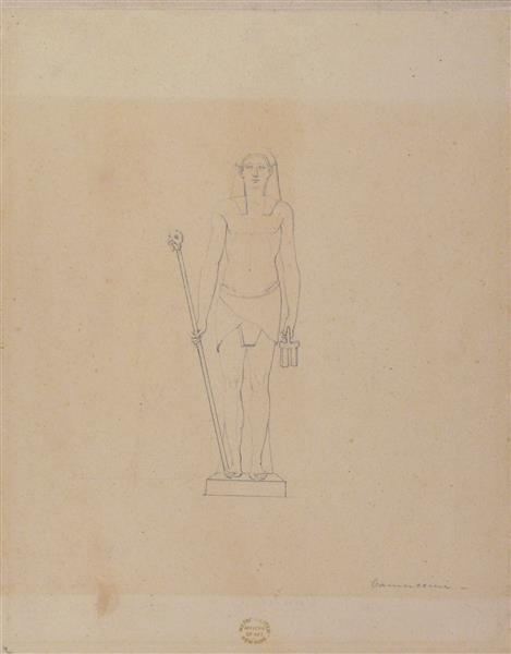 Standing Egyptian Figure - Vincenzo Camuccini