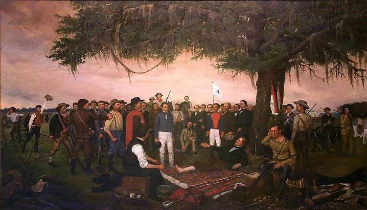 Surrender of Santa Anna, 1886 - William Henry Huddle