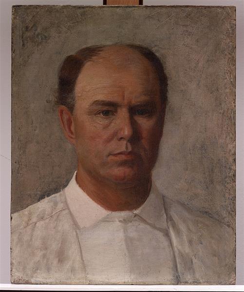 Self Portrait, 1891 - William Henry Huddle