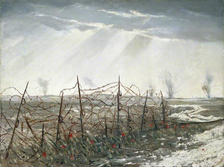 A Front Line near St Quentin, 1918 - Christopher Nevinson