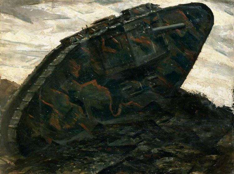 A Tank, 1917 - C. R. W. Nevinson