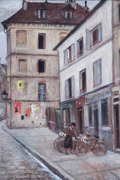 Bicyclettes, Paris, France - C. R. W. Nevinson