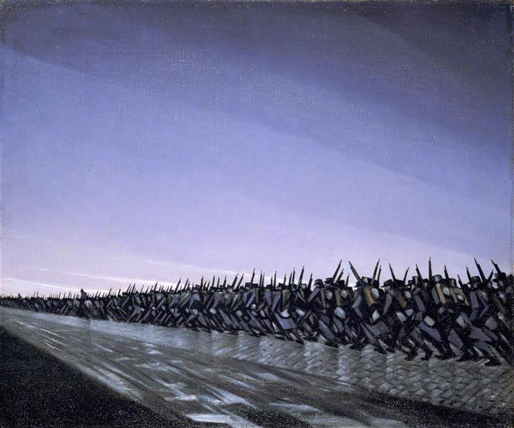 Column on the March, 1915 - C. R. W. Nevinson