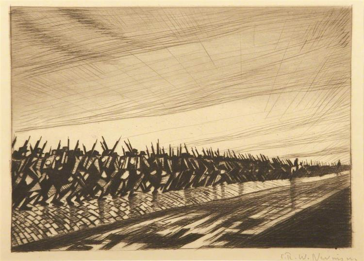 Column on the March, 1916 - Christopher Nevinson