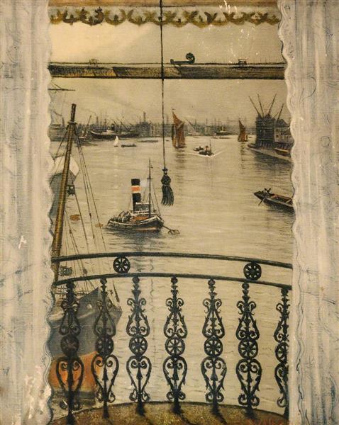 Greenwich Reach - C. R. W. Nevinson