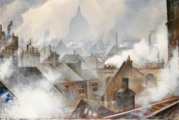 St Paul's from the South - C. R. W. Nevinson