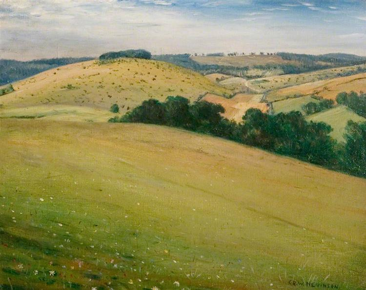 Summer in the Downs, 1946 - C. R. W. Nevinson