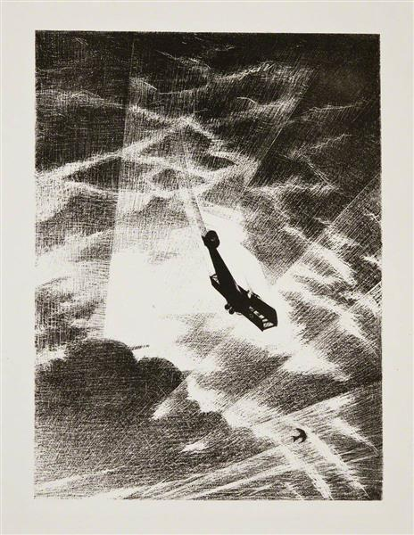 Swooping Down on a Taube, 1917 - C. R. W. Nevinson