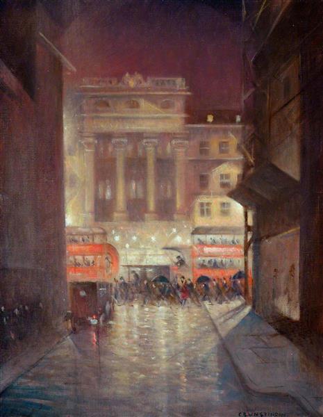 The Strand by Night, c.1937 - C. R. W. Nevinson