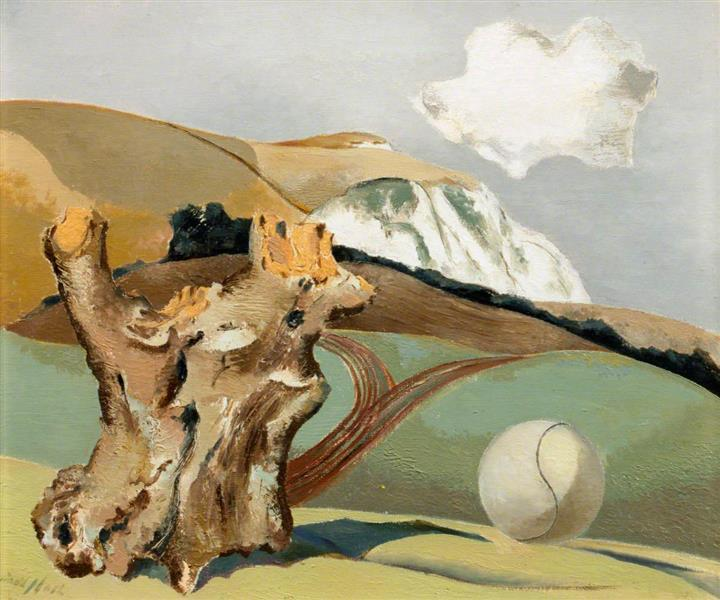 Event on the Downs, 1934 - Paul Nash