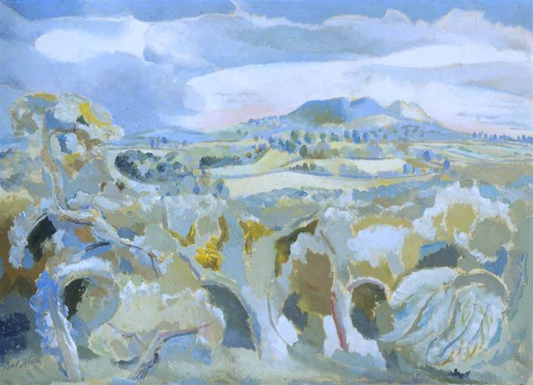 Landscape of the Malvern Distance, 1943 - Пол Нэш