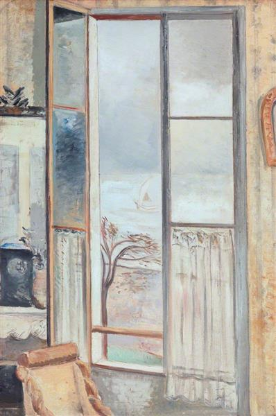 Riviera Window, Cros De Cagnes, 1926 - Paul Nash