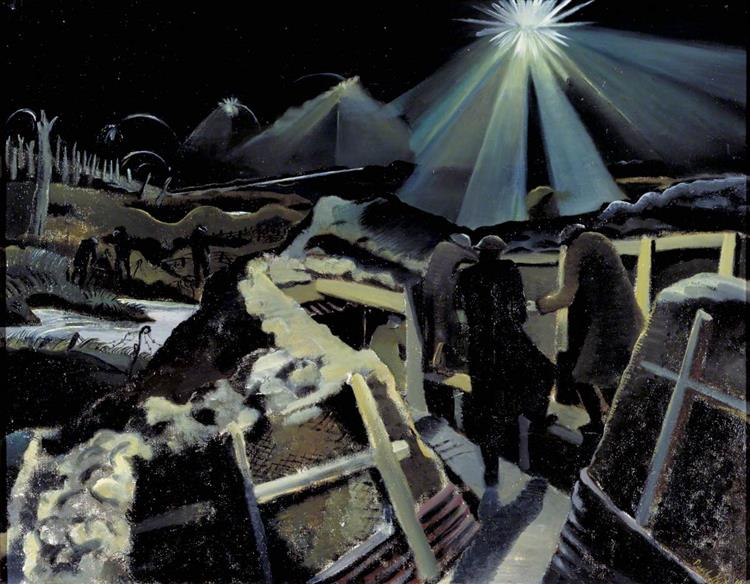The Ypres Salient at Night, 1918 - Paul Nash