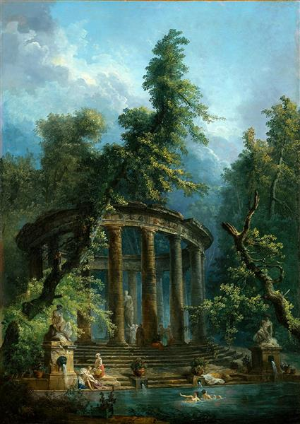 Бассейн для купания, 1777 - 1780 - Hubert Robert