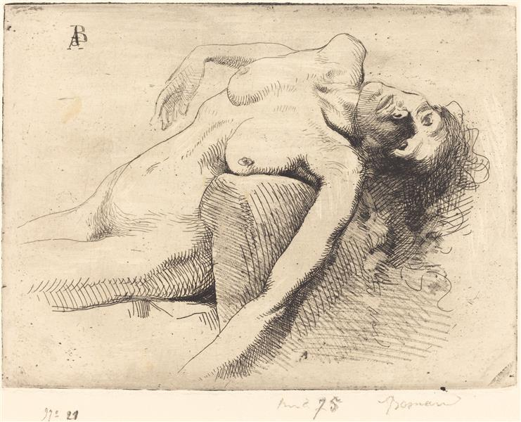 Dying Woman (la Mourante), 1885 - Поль Альбер Бенар